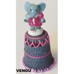 """Dé """"L'éléphante en robe rose"""""""