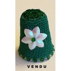 Dé vert à grosse fleur...
