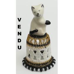 """Dé à coudre """"Le chat blanc"""""""