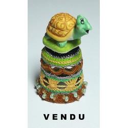 """Dé """"la tortue verte et beige"""""""