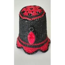 Perle rouge de Swarovski...